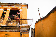 Architecture of an old french colonial style house in Hoi An, Vietnam, Southeast Asia