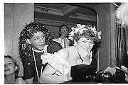 Neil Mendoza and Mary Ann Sieghad, Piers Gaveston Ball, Park Lane Hotel 13.05.83© Copyright Photograph by Dafydd Jones 66 Stockwell Park Rd. London SW9 0DA Tel 020 7733 0108 www.dafjones.com
