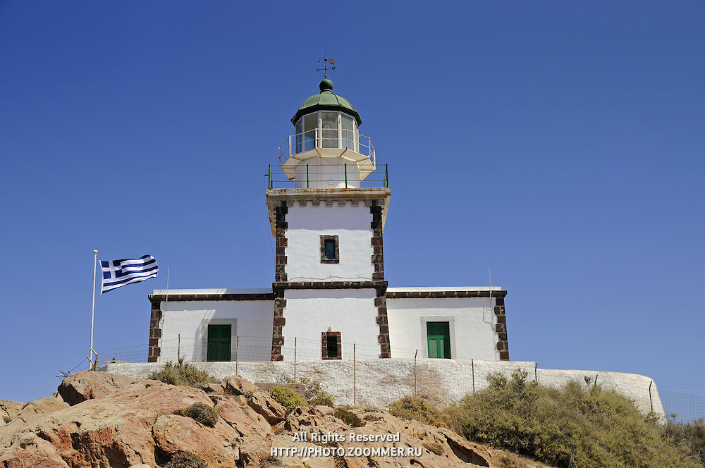 Lighthouse on Cape Akrotiri, Thira Santorini Greece