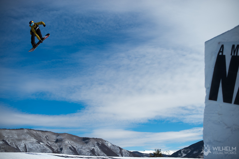 Mark McMorris during Snowboard Slopestyle Eliminations during 2015 X Games Aspen at Buttermilk Mountain in Aspen, CO. ©Brett Wilhelm/ESPN