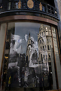 Burberry models seen in store window of their Regent Street shop in central London.