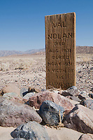 Grave of Val Nolan, who died in Death Valley in 1931. Death Valley National Park, California