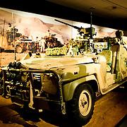 Gulf War vehicle exhibit at the Australian War Memorial in Canberra, ACT, Australia