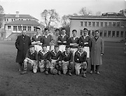 22/02/1957<br /> 02/22/1957<br /> 22 February 1957 <br /> U.C.C. v U.C.G., Collingwood Cup, at College Park, Trinity College, Dublin. The UCC team.