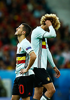 The delusion of Eden Hazard and Marouane Fellaini (Belgium). delusione<br /> Lille 01-07-2016 Stade Pierre Mauroy Football Euro2016 Wales - Belgium / Galles - Belgio <br /> Quarter-finals. Foto Matteo Ciambelli / Insidefoto