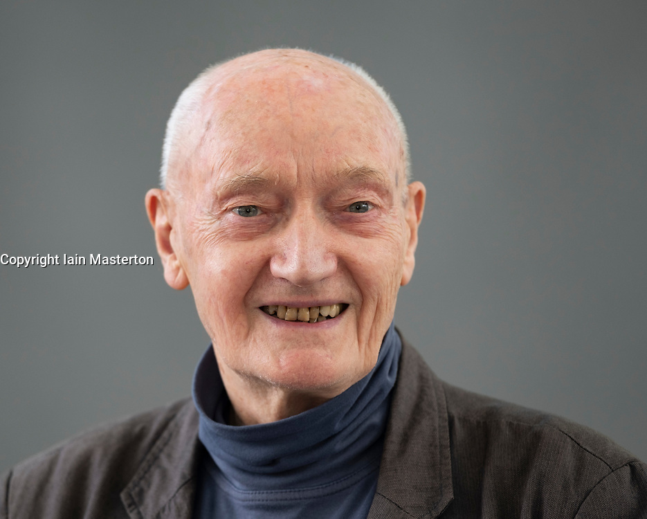 """Edinburgh, Scotland, UK; 16 August, 2018. Pictured; Richard Holloway, FRSE is a Scottish writer, broadcaster and cleric. He was Bishop of Edinburgh from 1986 to 2000 and Primus of the Scottish Episcopal Church from 1992 to 2000. His book """"Waiting for the Last Bus"""" is a reflection on he final curtain of mortality that we must all face."""