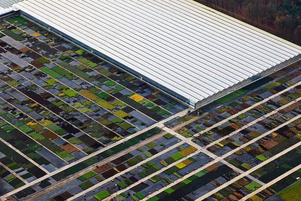 Nederland, Brabant, Gemeente Asten, 15-11-2010. Glastuinbouw op zandgronden van de Peel. .Horticulture on sandy soils of the Peel..luchtfoto (toeslag), aerial photo (additional fee required).foto/photo Siebe Swart
