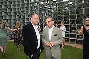 MATTHEW FREUD; JONATHAN NEWHOUSE, 2016 SERPENTINE SUMMER FUNDRAISER PARTY CO-HOSTED BY TOMMY HILFIGER. Serpentine Pavilion, Designed by Bjarke Ingels (BIG), Kensington Gardens. London. 6 July 2016