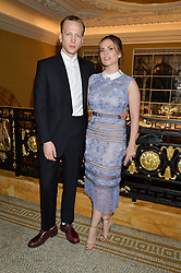 HAYLEY ATWELL and EVAN JONES at the Lancôme BAFTA Dinner held at The Cafe Royal, Regent's Street, London on 6th February 2015.