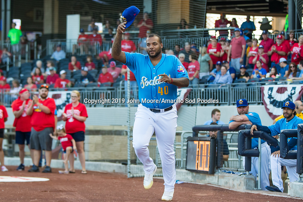 Amarillo Sod Poodles pitcher Jordan Gerrero (40) against the Tulsa Drillers during the Texas League Championship on Tuesday, Sept. 10, 2019, at HODGETOWN in Amarillo, Texas. [Photo by John Moore/Amarillo Sod Poodles]