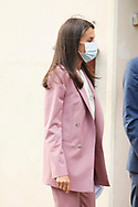 Queen Letizia of Spain attends World Cancer Research Day' at AECC Offices on September 24, 2020 in Madrid, Spain
