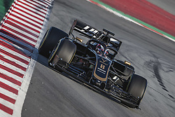 February 18, 2019 - Barcelona, Catalonia, Spain - ROMAIN GROSJEAN (FRA) from team Haas drives in his in his VF-19 during day one of the Formula One winter testing at Circuit de Catalunya (Credit Image: © Matthias Oesterle/ZUMA Wire)