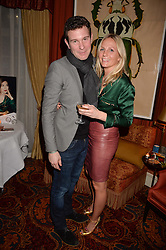 Jack Brooksbank, Maddie Chesterton at a party to launch the Barr & Bass 'Aya' brand at Mark's Club, 46 Charles Street, Mayfair, London England. 14 December 2016.