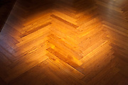parquet floor with spotlight