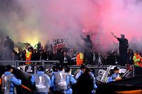 tifosi del Saint Etienne / Saint Etienne supporters.<br /> Roma 01-10-2015 Stadio Olimpico, Football Calcio 2015/2016 Europa League. Lazio - St. Etienne. Foto Antonietta Baldassarre / Insidefoto