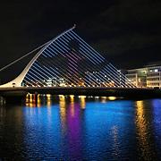 30.11.2020 DCCCC Winter Lights on Samuel Beckett Bridge