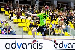 27.04.2018, BSFZ Suedstadt, Maria Enzersdorf, AUT, HLA, SG INSIGNIS Handball WESTWIEN vs Bregenz Handball, Viertelfinale, 1. Runde, im Bild Sebastian Frimmel (SG INSIGNIS Handball WESTWIEN) // during Handball League Austria, quarterfinal, 1 st round match between SG INSIGNIS Handball WESTWIEN and Bregenz Handball at the BSFZ Suedstadt, Maria Enzersdorf, Austria on 2018/04/27, EXPA Pictures © 2018, PhotoCredit: EXPA/ Sebastian Pucher
