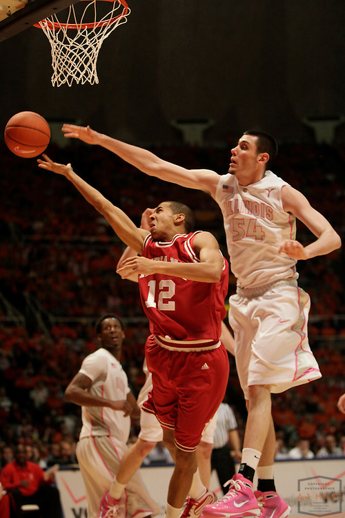 30 January 2010: Indiana guard Verdell Jones III (12) as the Indiana Hoosiers played the Illinois Illini in a college basketball game in Champaign, Ill..