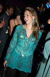 MISS VANESSA TEAGUE at a party hosted by Panerai and the Baglioni Hotel, 60 Hyde Park Gate, London on 6th December 2004.<br /><br />NON EXCLUSIVE - WORLD RIGHTS