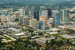 North America, United States, Washington, Bellevue, downtown Bellevue (aerial view)