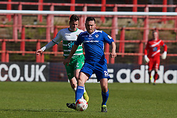 WREXHAM, WALES - Monday, May 2, 2016: Airbus UK Broughton's Matty McGinn in action against The New Saints during the 129th Welsh Cup Final at the Racecourse Ground. (Pic by David Rawcliffe/Propaganda)