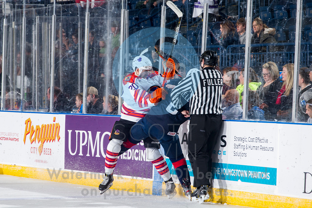 The Youngstown Phantoms lose 5-2 to Team USA NTDP U-18s at the Covelli Centre on December 6, 2019.<br /> <br /> Matthew Cassidy, forward, 20