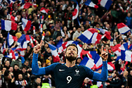 France's Olivier Giroud celebrates after scoring during the International Friendly Game football match between France and Colombia on march 23, 2018 at Stade de France in Saint-Denis, France - Photo Geoffroy Van Der Hasselt / ProSportsImages / DPPI
