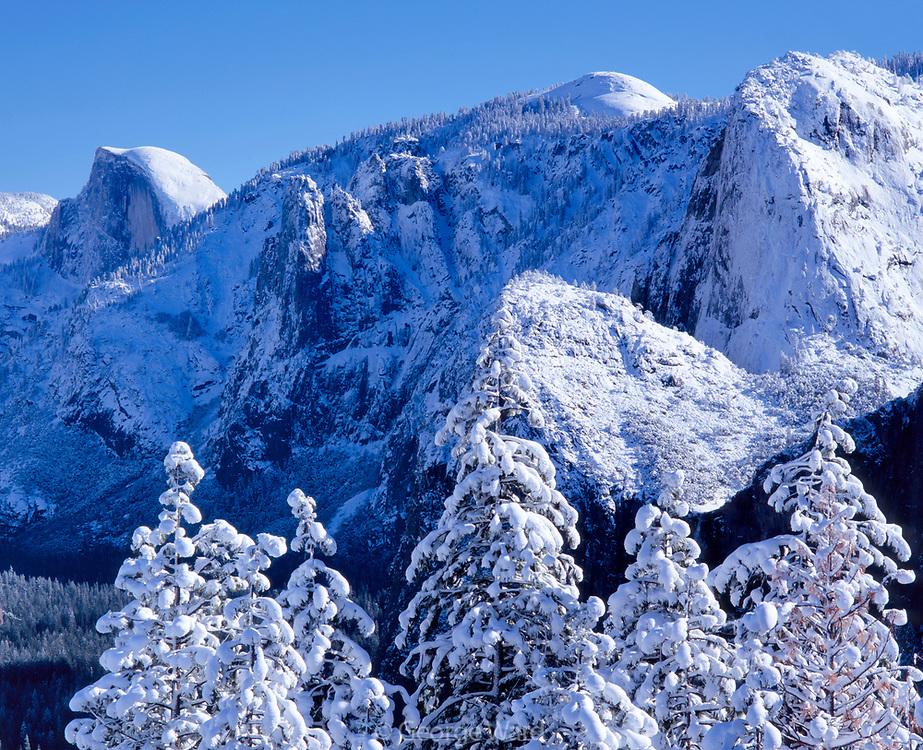 Above YosemiteValley in Winter,Yosemite National Park, California