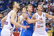 DESCRIZIONE : Berlino Berlin Eurobasket 2015 Group B Italy Serbia<br /> GIOCATORE :  Nicolo Melli<br /> CATEGORIA :Tagliafuori<br /> SQUADRA : Italy<br /> EVENTO : Eurobasket 2015 Group B <br /> GARA : Italy Serbia<br /> DATA : 10/09/2015 <br /> SPORT : Pallacanestro <br /> AUTORE : Agenzia Ciamillo-Castoria/I.Mancini <br /> Galleria : Eurobasket 2015 <br /> Fotonotizia : Berlino Berlin Eurobasket 2015 Group B Italy Serbia