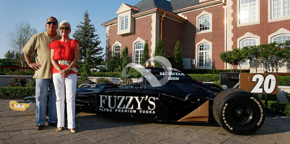 Fuzzy's Vodka pre race party at the home of Stuart Reed in Carmel, Indiana.