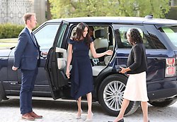 Meghan Markle and her mother, Doria Ragland, arriving at Cliveden House Hotel on the National Trust's Cliveden Estate to spend the night before her wedding to Prince Harry.
