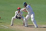 Central Stags Christian Leopard plays a shot in the Plunket Shield Cricket match, Central Districts v Canterbury, McLean Park, Napier, Tuesday, April 06, 2021. Copyright photo: Kerry Marshall / www.photosport.nz