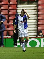 Photo: Andrew Unwin.<br /> Middlesbrough v Blackburn Rovers. Carling Cup. 21/12/2005.<br /> Blackburn's Paul Dickov.
