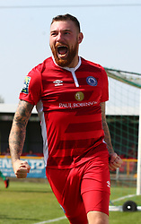 August 28, 2017 - London, United Kingdom - Billy Bricknell of Billericay Town celebrates scoring his sides first goal .during Bostik League Premier Division match between Thurrock vs Billericay Town at  Ship Lane Ground, Aveley on 28 August 2017  (Credit Image: © Kieran Galvin/NurPhoto via ZUMA Press)