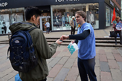 Junior doctors striking in continuing dispute over new NHS contracts. Norwich 26 April 2016