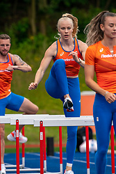 Marije van Hunenstijn in action during the Press presentation of the olympic team Athletics on July 8, 2021 in Papendal Arnhem