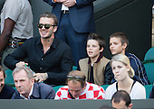 David Beckham and sons at Wimbledon