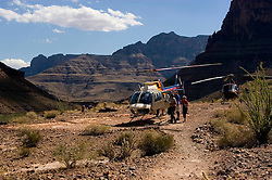 Scenic, Grand Canyon, Helicopter ride, two helicopters, no model release, Arizona, AZ, cliffs, landscape, horizontal, arid, erosion, nature, Image nv468-18765.Photo copyright: Lee Foster, www.fostertravel.com, lee@fostertravel.com, 510-549-2202