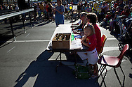 Parents enter their children in the baby contest during the three-day Little Balkans Days festival in Pittsburg, Kansas, Sep. 4, 2010.