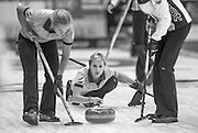 """Glasgow. SCOTLAND. Russia's, Galina ARSENKINA, during the   """"Round Robin"""" Games. Le Gruyère European Curling Championships. 2016 Venue, Braehead  Scotland<br /> Monday  21/11/2016<br /> <br /> [Mandatory Credit; Peter Spurrier/Intersport-images]"""