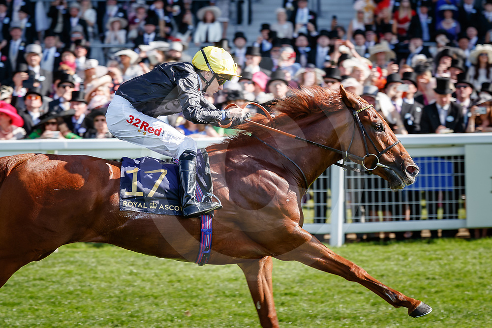 Agrotera (Jamie Spencer) wins The Sandringham Stakes (Handicap) at Royal Ascot, 22/06/2018, photo: Zuzanna Lupa