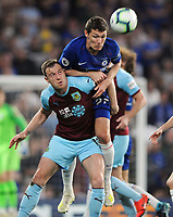 Football - 2018/ 2019 Premier League - Chelsea vs Burnley<br /> <br /> Andreas Christensen of Chelsea towers over Ashley Barnes at Stamford Bridge<br /> <br /> Colorsport  / Andrew Cowie