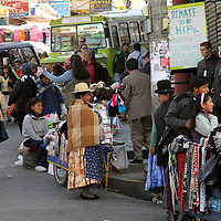 South America, Bolivia, La Paz. Market Day.