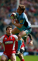 Photo: Richard Lane/Richard Lane Photography. Gloucester Rugby v Cardiff Blues. Anglo Welsh EDF Energy Cup Final. 18/04/2009. Blues' Ben Blair wins a high ball.