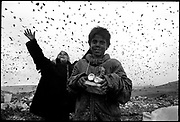 Pata-Râta is a small community of 200 people squatting illegally in make-shift shacks adjoining a garbage dump on the fringe of the Transylvanian city of Cluj-Napoca. August 1996