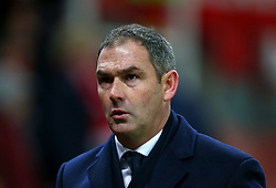 """Swansea City manager Paul Clement appears dejected after the final whistle during the Premier League match at the Bet35 Stadium, Stoke. PRESS ASSOCIATION Photo Picture date: Saturday December 2, 2017. See PA story SOCCER Stoke. Photo credit should read: Dave Thompson/PA Wire. RESTRICTIONS: EDITORIAL USE ONLY No use with unauthorised audio, video, data, fixture lists, club/league logos or """"live"""" services. Online in-match use limited to 75 images, no video emulation. No use in betting, games or single club/league/player publications"""