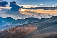 At the crater rim of Haleakala National Park, Maui, Hawaii.