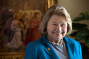Mara Lavitt -- Special to the Hartford Courant<br /> March 4, 2016, New Haven<br /> Albertus Magnus College (New Haven) president Julia McNamara will be leaving her post in June after well over three decades at the helm of the college. Here she is photographed in her office.