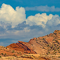 Clouds billow above Comb Ridge in the Bears Ears National Monument, Utak.