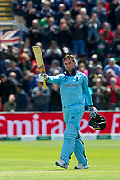 8 June 2019_cricket_CWC 2019_England v Bangladesh<br /> <br /> Jason Roy celebrates his 100<br /> in the ICC Cricket World Cup at Cardiff<br /> <br /> pic © winston bynorth